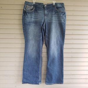Earl Jean Straight Leg Jeans Size 22W